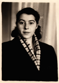 Marianne Lask passport photo for her first trip to East Berlin, 1956 © Lask Collection