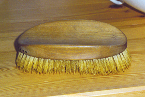 Kafka's military-style hairbrush made by G.B. Kent & Sons, established 1777 in England.